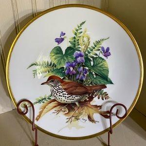 Roger Troy Peterson Wood Thrush bird plate